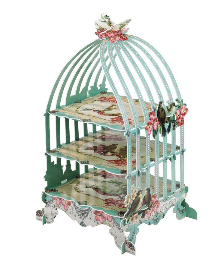 Talking Tables US_PRL-BIRDCAGE - Bandeja para tartas, Altura 46cm, color rojo: Amazon.es: Hogar