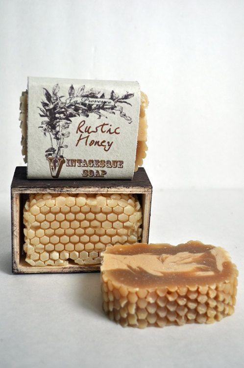Savon miel rustique.3. 3/8 oz Soap, apaisant, conditions et hydratante, savon, savon maison, savon naturel, fait main,