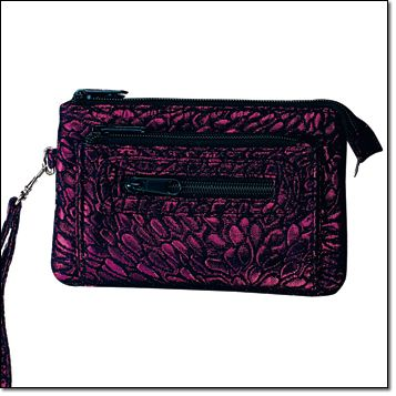 """Metallic Shimmer Smart Phone Case Secure zip closure with two zip-close outer pockets for extra storage. Removable wristlet strap. Fully lined. 7"""" W x 4 1/4"""" H. Item#: 384-927 Brochure: $9.99"""