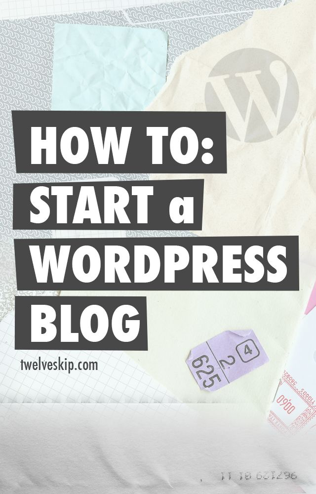 In this tutorial, you're going to learn how to start a WordPress blog within just few minutes! Easy step by step tutorial here: http://www.twelveskip.com/guide/blogging/1300/how-to-start-a-wordpress-blog