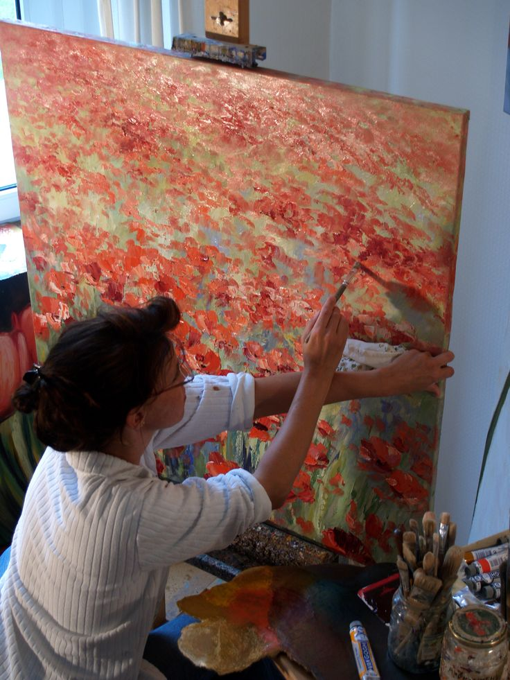 Ute Herrmann - Kunstmalerin aus dem Bergischen Land in Much im Atelier |  Durch die Hand der Malerin entstehen impressionistische Landschaften, die ihre Freude an Farben und Lichtspielen der Natur wiedergeben | www.ute-herrmann-kunstmalerin.de