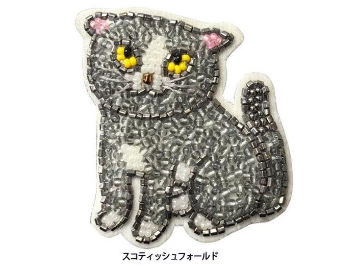 【楽天市場】チリア ネコのブローチ:田川啓二ビーズ刺繍チリアショップ