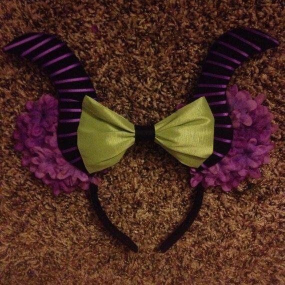 Maleficent Mickey Mouse ears by Mousehouseboutique on Etsy, $25.00