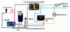 ESP8266 internet switch schematic