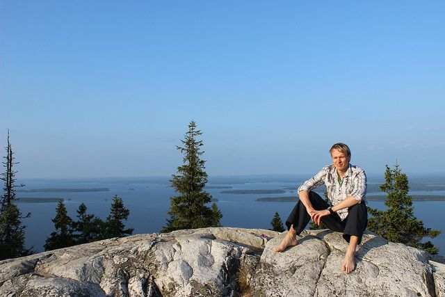 CEO Janne Ruohisto on a summer day in Koli National Park in the North Karelia region of Finland
