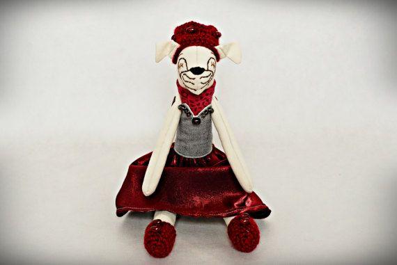 Adorable Pug Queen handmade stuffed toy pug lover gift dog