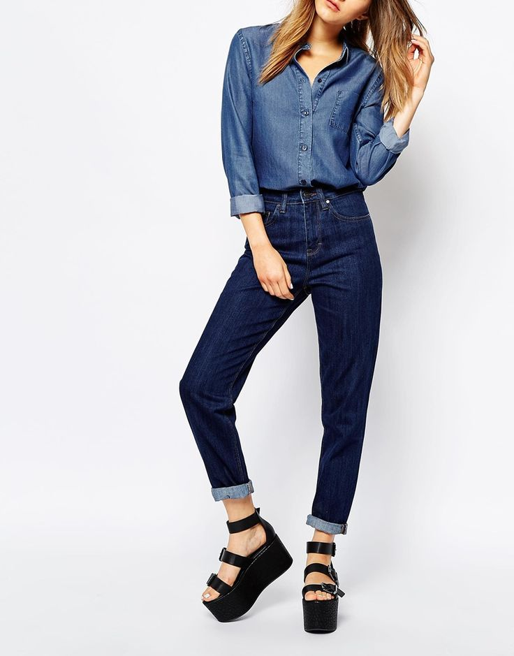 WAVEN – Mom-Jeans mit hoher Taille 71€