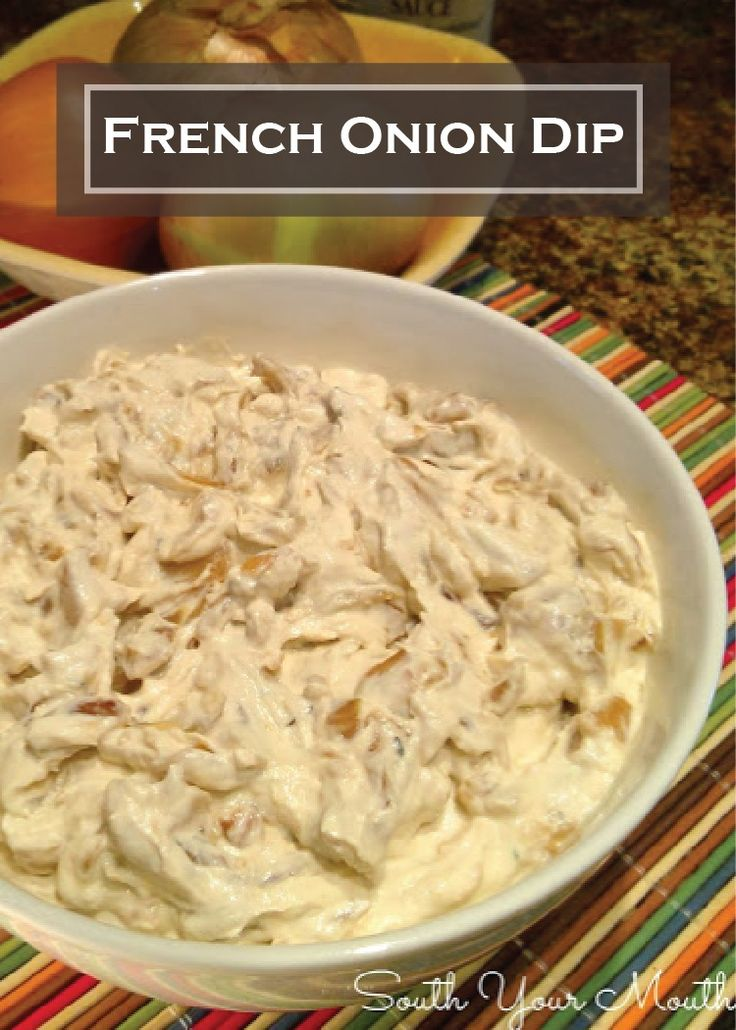Make a dip that will blow your friend's taste buds away at the next fall party with this delicious Homemade French Onion Dip! Pair it with STACY'S SIMPLY NAKED Pita Chips! {Pin this appetizer for later}