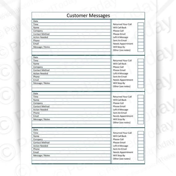 Printable Message Sheet Digital Download Pdf For Missed Call Etsy Messages Letter Size Paper Printable Signs