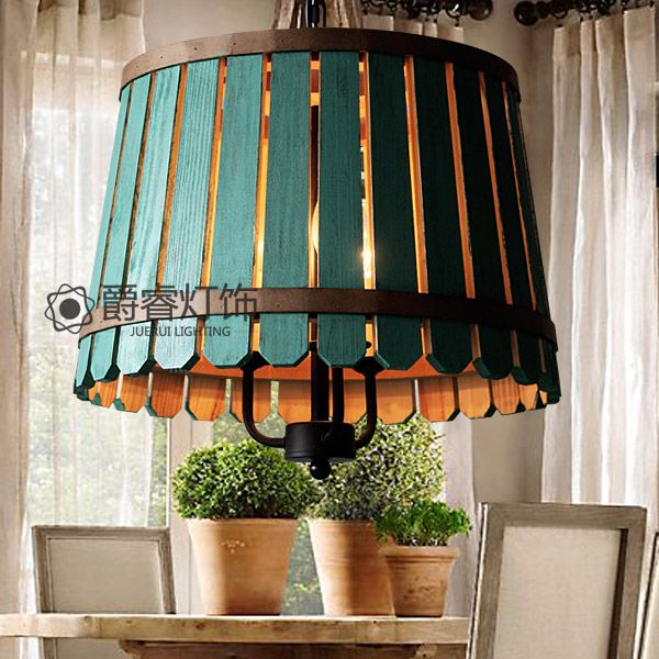 Pays d'amérique rétro restaurant en bois fût E14 pendentif de fer rustique lampe pour salle à manger salon D40cm EMS(China (Mainland))