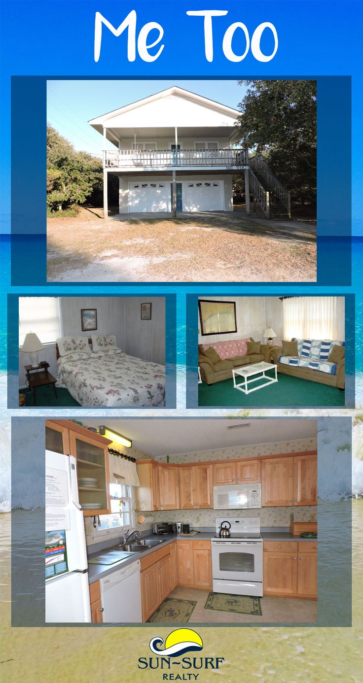 Me Too is an oceanside Emerald Isle vacation rental with 4 bedrooms, 2 baths and sleeps 8. Book online!