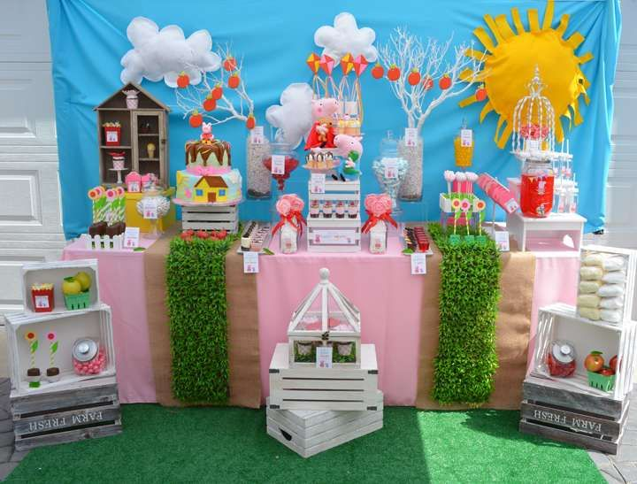 Peppa and George 4th Birthday Party | CatchMyParty.com