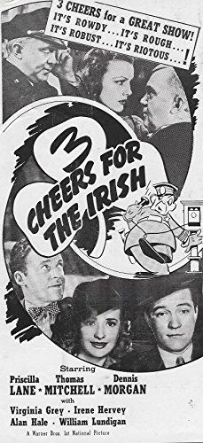 Virginia Grey, Frank Jenks, Priscilla Lane, Thomas Mitchell, and Dennis Morgan in 3 Cheers for the Irish (1940)