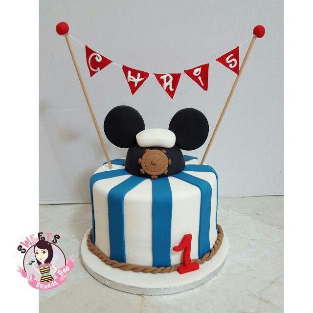 Nautical Mickey Cake