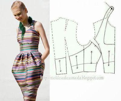 Moldes Moda por Medida: DETALHES DE MODELAÇÃO-8 #vestidos #focustextil