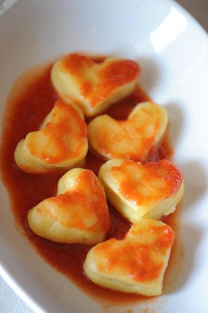 Love Gnocchi #love #amore #sanvalentino #pasta #saintvalentine #heart #cuore