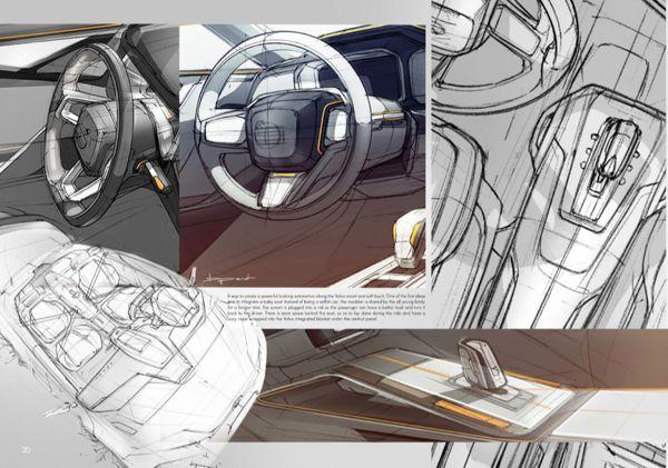 volvo roadster by benjamin p rot via behance automotive interior sketch pinterest. Black Bedroom Furniture Sets. Home Design Ideas