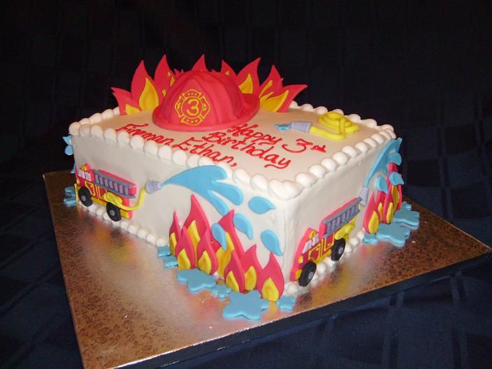 image detail for in kids birthday cakes tagged firefighter birthday party fireman - Birthday Cake Designs Ideas