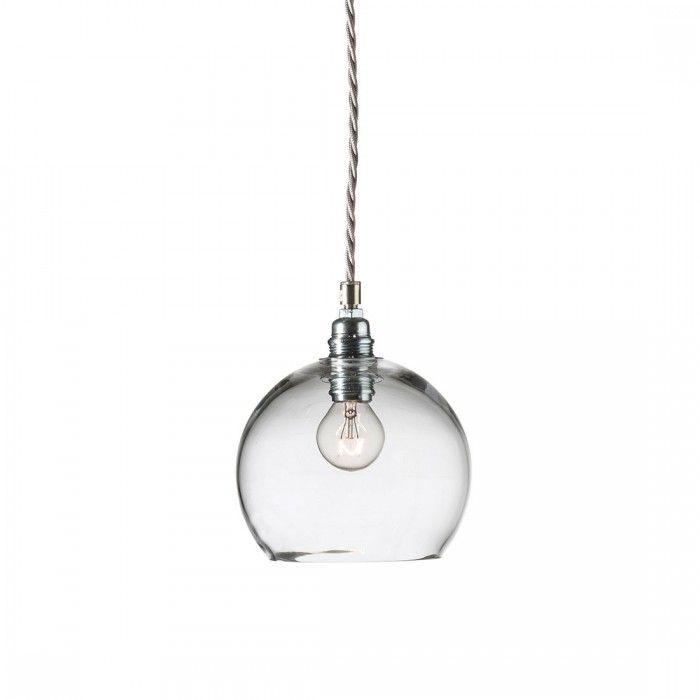 Lampada a sospensione Rowan 15,5 cm argento by Ebb & Flow