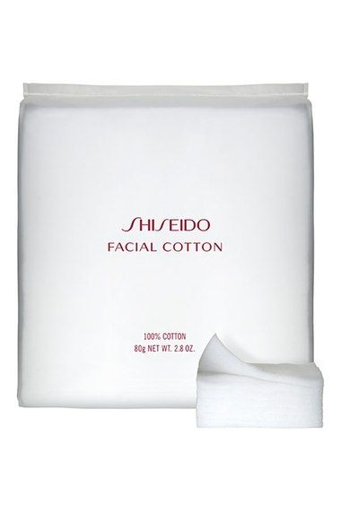 Shiseido facial cotton pads. The best.