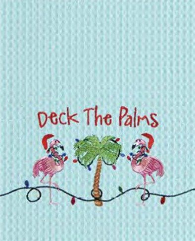 Tropical Pink Flamingo Kitchen Towel Dishtowel Deck the Palms  Christmas Decor >>> Learn more by visiting the image link.