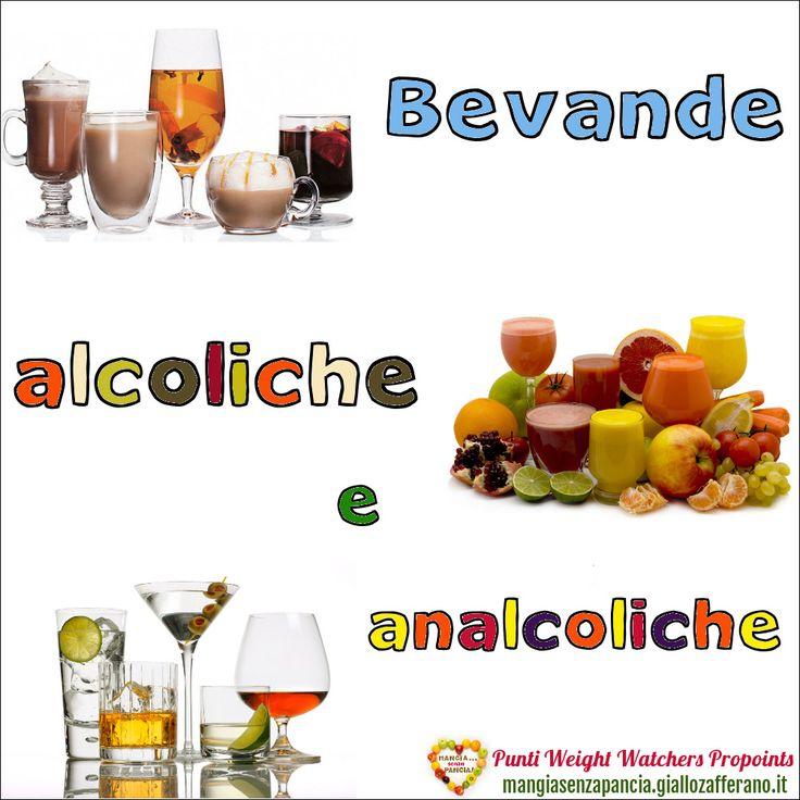 Lista Punti Weight Watchers Bevande alcoliche e analcoliche per calcolarne il valore da inserire nel diario alimentare quotidiano