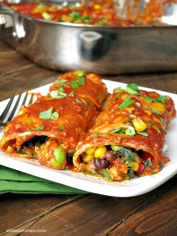 Cheesy Vegetable Enchiladas are stuffed with black beans, corn, spinach, made with three cups of cheese and covered in an easy-to-make homemade enchilada sauce. {vegetarian, gluten free} This recipe for Cheesy Vegetable Enchiladas has been a family favorite for years. From the traditional combination of black beans and corn to the deliciously surprising addition of...Read more