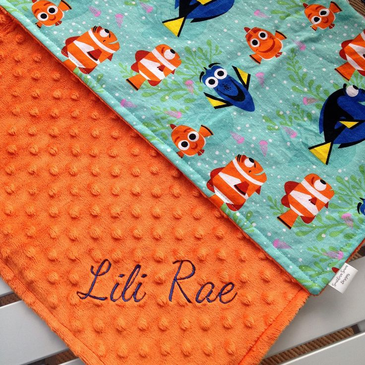 Dory  Baby Blanket, Personalized Baby Blanket, Minky Blanket, Minky Baby Blanket, Custom Made Blanket, Dory by SouthernSewnDesigns on Etsy