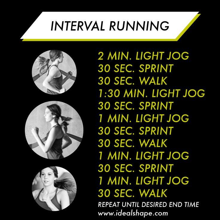 Burn a TON of calories running intervals!  | idealshape.com  #idealshape #shape4life #running #workout #intervals