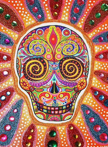 Day of the Dead art by thaneeya, via Flickr