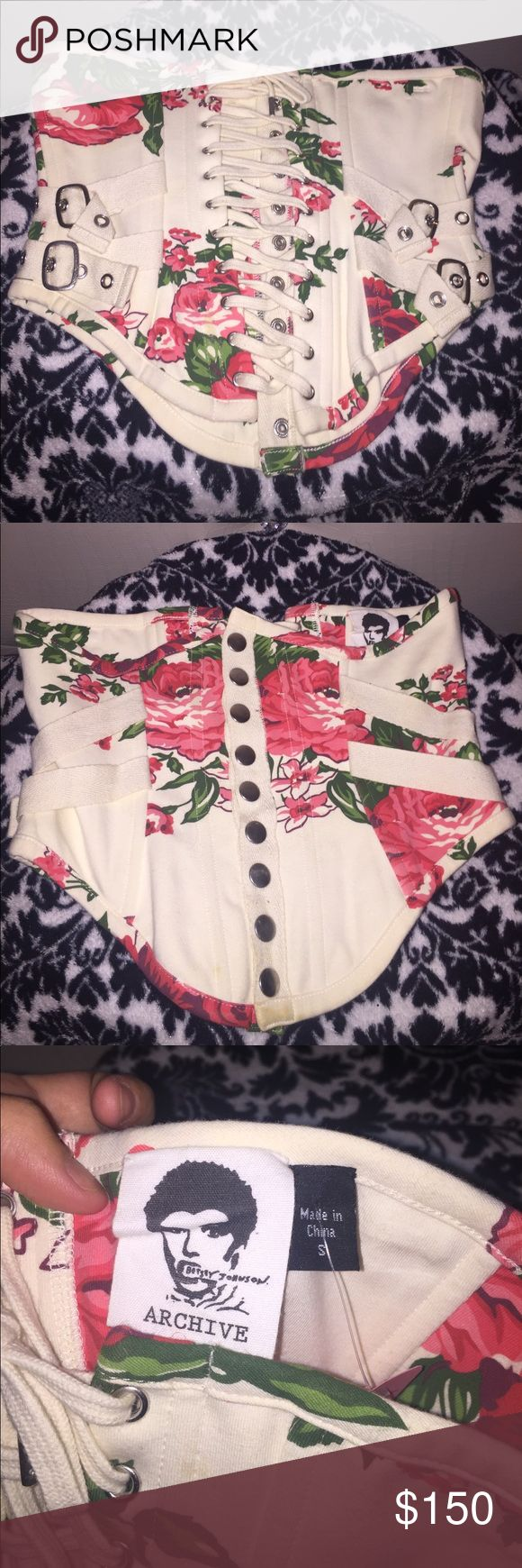 Betsey Johnson Archive corset waist trainer Hard to find! Waist trainer corset from Betsey Johnson. The vintage archive punk face collection. Size S New without tags. Betsey Johnson Other