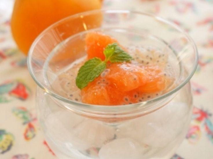 ダイエット効果抜群のグレープフルーツのチアシードジュレ