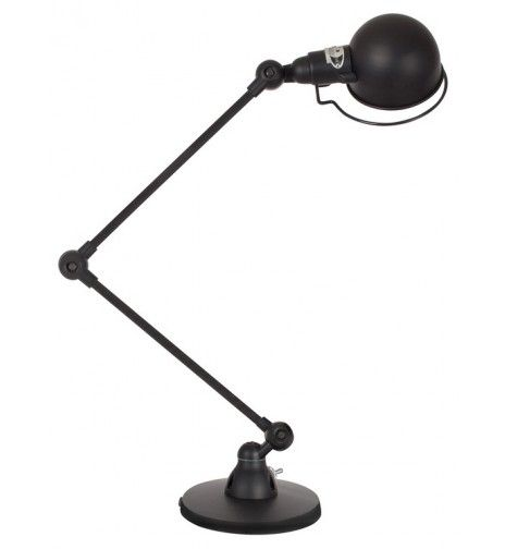 Signal - Lampe à poser 2 bras - Noir Mat  (pour un anniversaire)