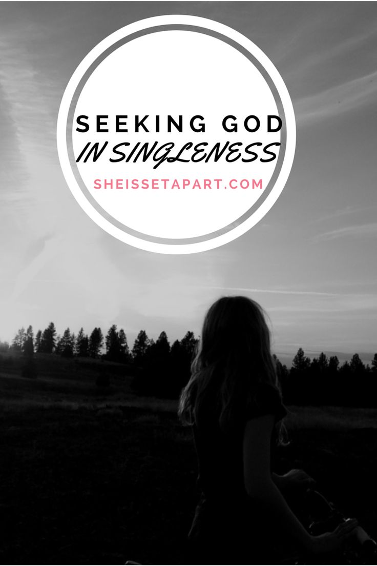 Seeking God In Singleness {Guest Post/She Is Set Apart}   As daughters of God, we have an awesome privilege of being able to go to our heavenly Father with boldness and seek His council when it comes to our singleness. We may not always avoid heartache but we can certainly minimize it if we're willing to hear and be obedient to what He says.