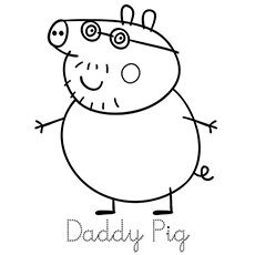 The Daddy Pig Coloring Pages