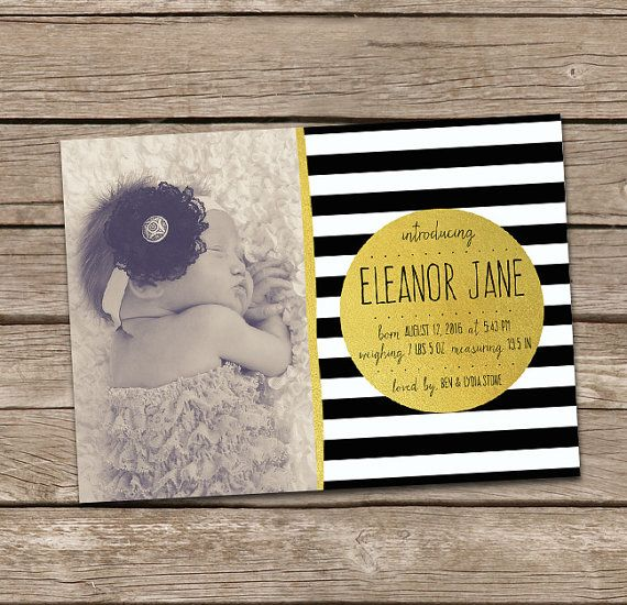 Printable Birth Announcement : Eleanor 2 Baby Girl by deanworks