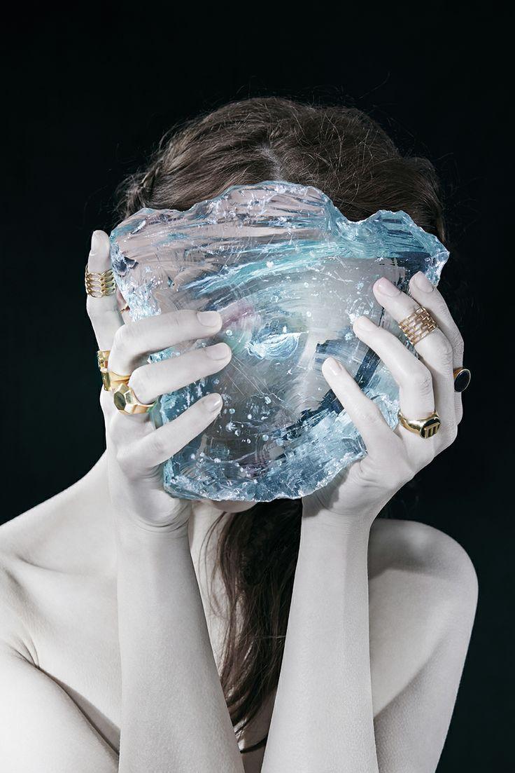 Melancholia lookbook photo by Adrian Lach #Melancholia #Jewel #Jewellry #signet #ring #gold #lookbook