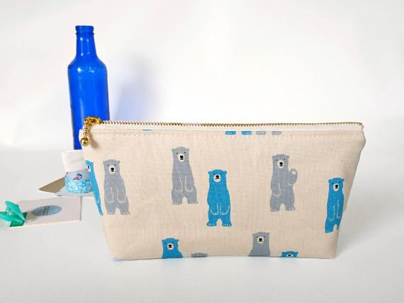 Cute zipper pouch bears pencil case perfect gift for