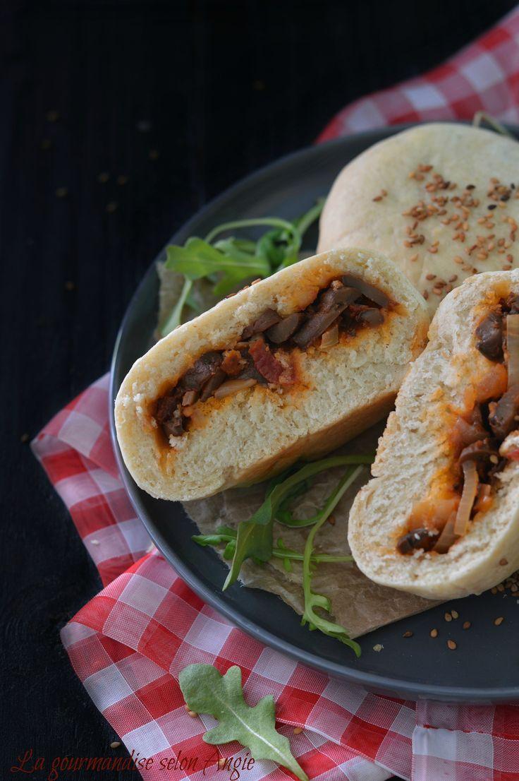 Buns Végétaliens {Façon Pizza} @ La Gourmandise Selon Angie #recette #salé #vegan #végétal