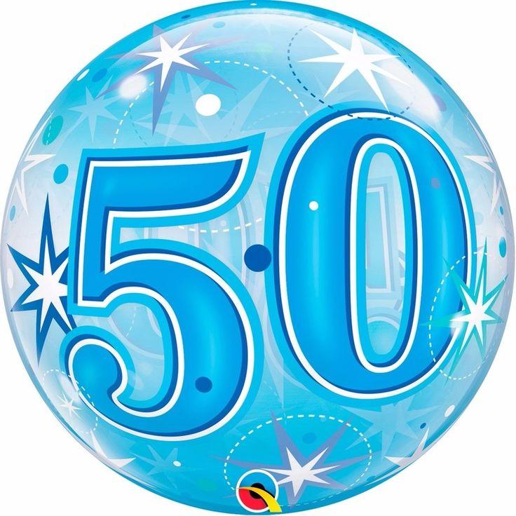 Folie helium ballon in het blauw van 50 jaar. Folie ballon met 50 jaar geworden opdruk. De folie ballon is ongeveer 55 cm groot. Deze folie ballon wordt gevuld met helium geleverd en kan derhalve niet geretourneerd worden.