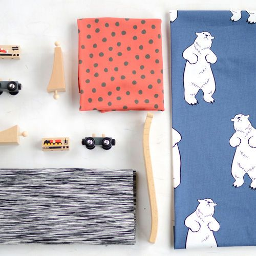 Strech College, Fantasia Black | New NOSH fabric collection for Winter 2016! Get inspired from polar bears and pastel colors. Shop this new fabric collection at en.nosh.fi