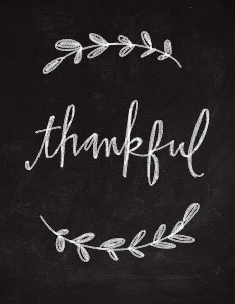 Thankful Chalkboard Art