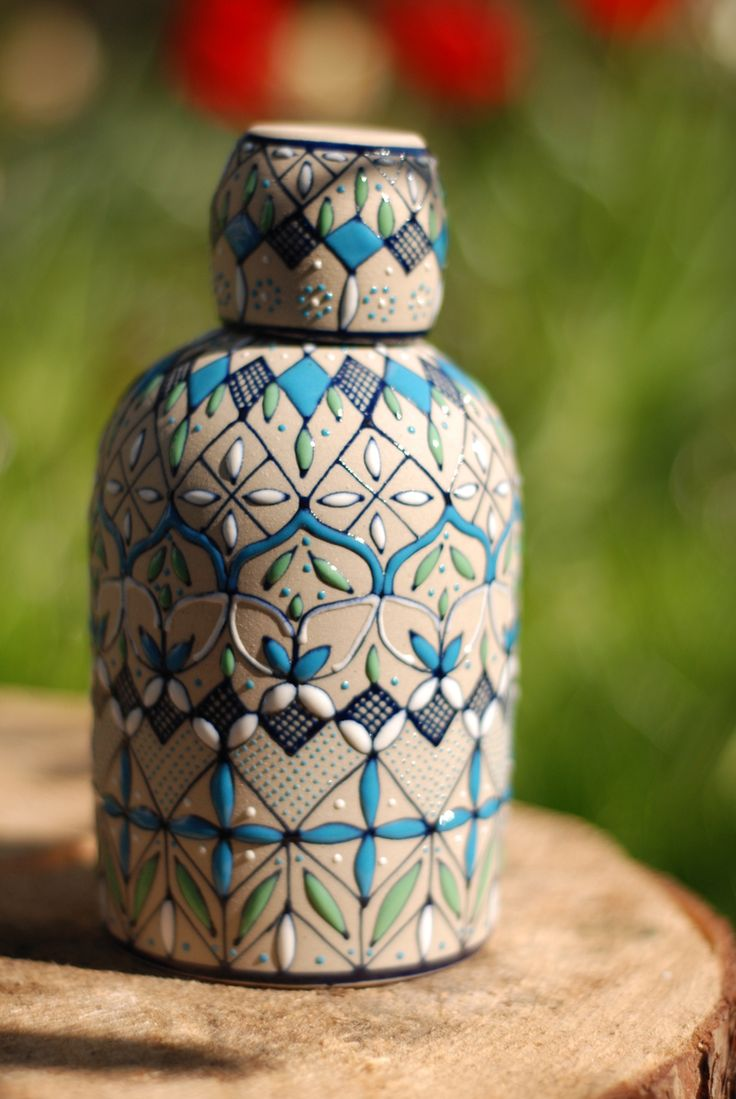 Mexican Hand Painted Decanter Cup