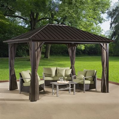 Sojag Gazebo 500 7153675 Genova 12 Ft X 10 Ft Hardtop With
