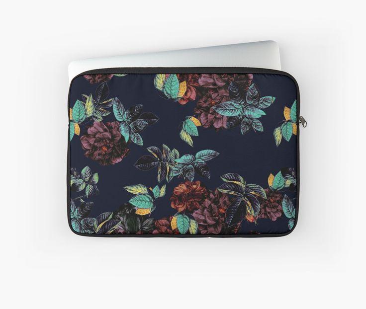 Laptop Sleeves Roses Garden by talipmemis