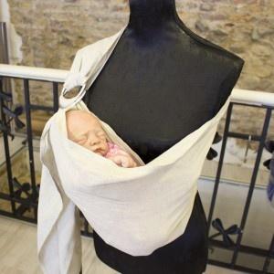 Bandolera portabebe de anillas para llevar a tu bebé - Teoyleo