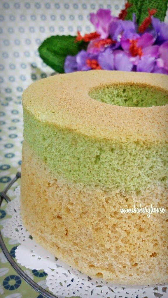 MiMi Bakery House: Soy Pandan Chiffon Cake • Rice Cooker Cake