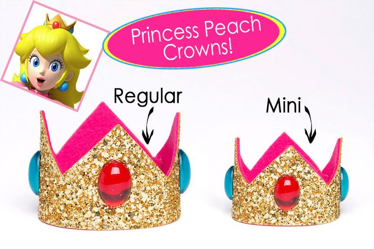 Princess Peach Crown Super Mario Bros Princess Peach Crown SINGLE Crown Cosplay Princess Peach 2 Sizes Available by TheRoyalTouch on Etsy https://www.etsy.com/listing/271476247/princess-peach-crown-super-mario-bros