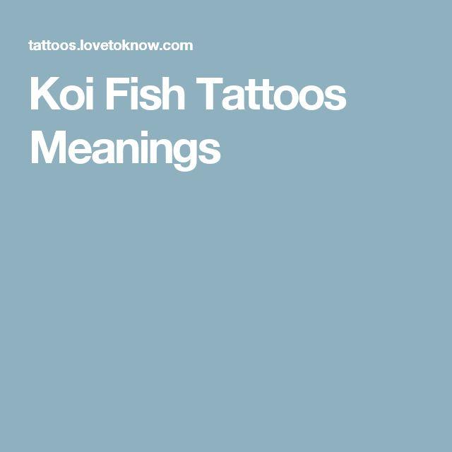 Koi Fish Tattoos Meanings