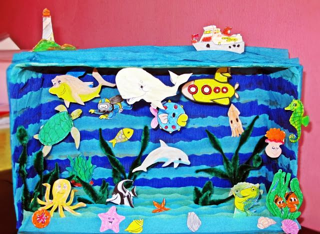 Diorama Under The Sea - Brilliant Rosy Rose